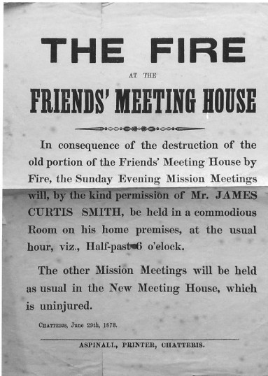 Notice regarding the Friends'  Meeting House in Chatteris