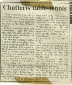 Press Clipping 1976 Table Tennis Club Chatteris