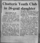 Chatteris Youth Club Football Team Press Cutting