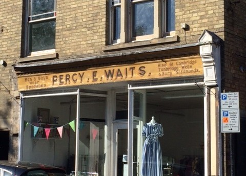 Percy Waits Shop Sign