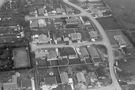 Aeral view of Eastwood as some of the houses there were being constructed.