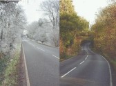 Views of Ferry Hill Chatteris in Autumn and Winter.
