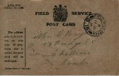 Post card from Soldier in WW1