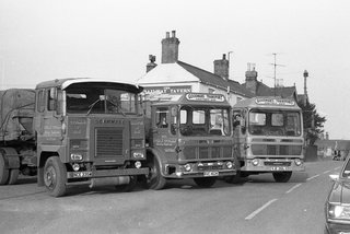 Goodmans lorries outside The Railway Tavern. Station Street. Chatteris.