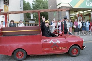 Chatteris Fire Brigade Vehicle in Chatteris Carnival Parade