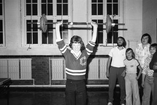 Weight lifting in King Edward School