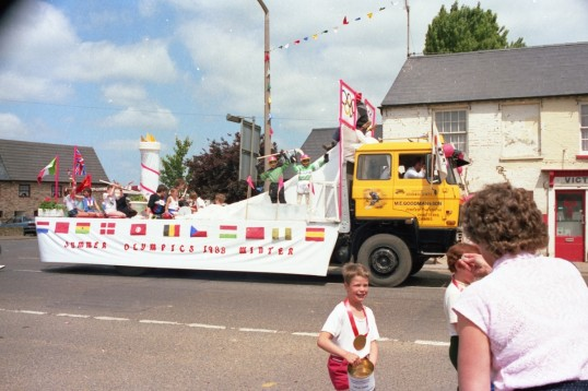 Goodman's Lorry with Carnival Decoration on High St.