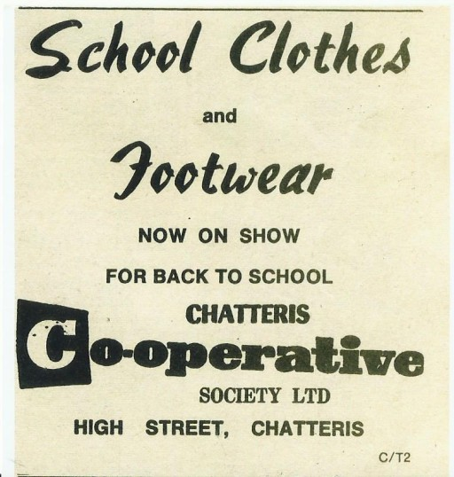 Advertisement for Co-Operative Store High St. Chatteris