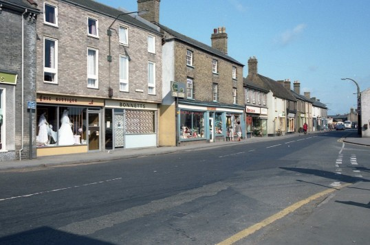 High Street Chatteris with Bonnetts the Bakers Chic Boutique