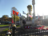 Wreaths at the cenotaph Chatteris 2017