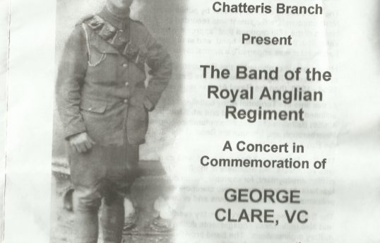 Programme for Band of Royal Anglian Regiment Concert 11 th Nov 2017