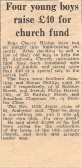 Donated by Jonathan Phillips. Cambridge News cutting 1973