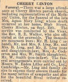 Cambridge News announcement of death of Agnes Mary Ling from Lings shop High St/ Railway St corner 1946. Courtesy of Jonathan Phillips