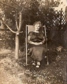 Agnes Mary Ling in the garden of Lings shop High St. Courtesy of Jonathan Phillips
