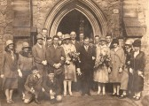 A double wedding at St Andrews of 2 sisters one to Sammy Ling. Courtesy of Jonathan Phillips.