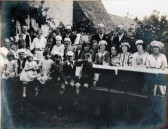 The Annual Ling Goat Supper in the Red Lion garden 1923. Courtesy of Colin Maskall.