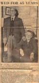 Cambridge Daily News celebrating 65th Wedding Anniversary of Mr & Mrs George Cornell of 182 Church End Cherry Hinton (Donated by Tony Middleton)