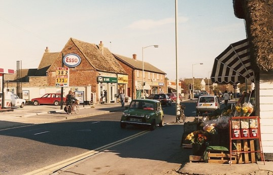 High Street, Cherry Hinton showing garage (Photograph by Geoff Kitchin)