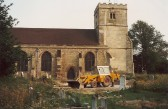 Site of new church centre, St. Andrew's Church, Cherry Hinton.  Photography by Geoff Kitchin