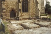 Foundations of new church centre, St. Andrew's Church, Cherry Hinton.  Photograph by Geoff Kitchin