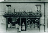 C.H. Smith, Grocery and Drapery Stores, High Street (opposite Mill End Road junction), Cherry Hinton.  Copyright untraced.