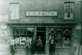 C.H. Smith, Grocery and Drapery Stores, High Street (opposite Mill End Road junction), Cherry Hinton.  Copyright untraced