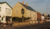 """Five Bells public house & new terraced housing """"Fernlea Place"""", High Street Cherry Hinton.  Photograph by Geoff Kitchin"""