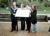 Unveiling of 'The Lost Watermills of Cherry Hinton' information boards in the grounds of Cherry Hinton Hall (M Bullivant)