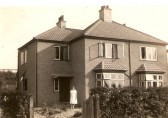 House on Queen Ediths Way with Chalk pits in background (Donated by Colin Lowe)