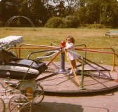Michelle & Lynsey Bullivant on the play park at Cherry Hinton Hall (Donated by Elizabeth Toller-Brown)