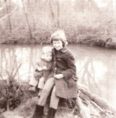 Elizabeth Toller & Christopher Brown in grounds of Cherry Hinton Hall (Donated by Elizabeth Toller-Brown)