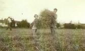 David & Elizabeth Toller in field behind 59 Netherhall Way (now Beaumont Road estate) (Donated by Elizabeth Toller-Brown)