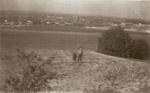 David & Elizabeth Toller on Lime Kiln Hill looking down towards Netherhall School being built on the right. (Donated by Elizabeth Toller-Brown)