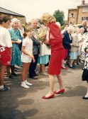 H.R.H. Diana Princess of Wales openingof the village centre, Cherry Hinton