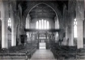 "Photo of interior of St. Andrew's Church, Cherry Hinton.  Given to Arthur Charles Murrell, Server ""in much gratitude from R.E. Walker""."