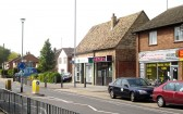 Cherry Hinton High Street showing resturant, Lloyds Bank and shops. (Photo: Norman Daniels)