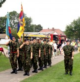 Local Cadets at the Cherry Hinton Festival held on the Recreation Ground.