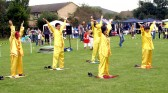The 'Falun Gong' Group at the Cherry Hinton Festival held on the Recreation Ground.