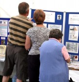 The Local History Society display attracted a lot of interest (Photo: Norman Daniels)