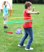 Hula Hoops were popular at the Festival