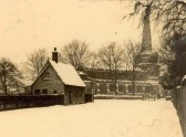 St Andrew's Church , Chesterton, in the snow