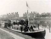 Meeting of River Cam Commissioners-boat is moored opposite what is now the Arundel Hotel (Chesterton)