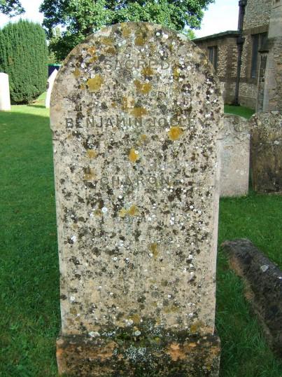 Chesterton, Benjamin Jolley's Tombstone in St Andrew's Churchyard