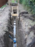 Underground stream discovered by workmen in Camside, Chesterton. Does anyone know what this was originally used for ?