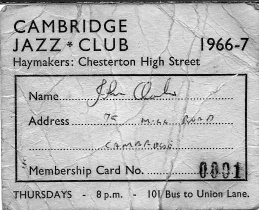 Haymakers jazz club card