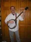 Ralph Carpenter,playing banjo in Cottenham.. Ralph Carpenter