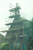 Removal of the Cottenham Methodist Church Bell Tower ( photo courtesy Bernard Cornwell)