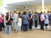 Guests enjoy refreshments provided by Catering Students at the opening of Cottenham Village College's New Sixth Form Centre