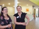 Local Arts Development Manager, Amy Wormald at the official opening of the New Sixth Form Centre at Cottenham Village College