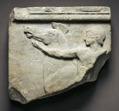 The Cottenham Relief, a relief carving in Marble, Greek Art, Dated 500BC, found in Cottenham field in 1911, now in the Getty Villa Museum, Malibu.
